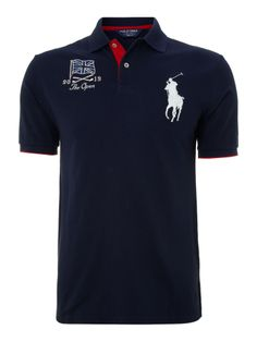 Polo Ralph Lauren Golf Open flag polo shirt, Navy