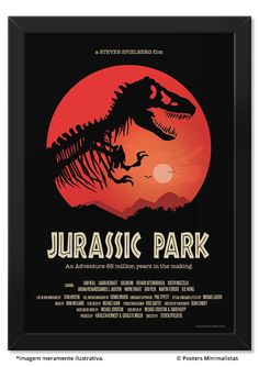 Jurassic Park - Filmes | Posters Minimalistas