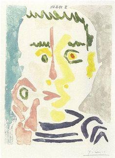 primary-yellow:  PABLO PICASSOFUMEUR, 1964