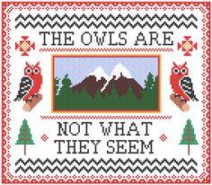 Twin Peaks cross-stitch