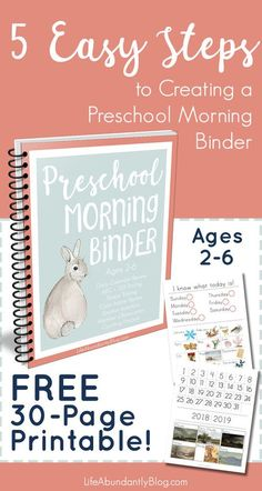 How to Use a Preschool Morning Binder (PLUS all you need to get started!) — Life, Abundantly