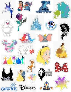 'Disney sticker pack' Sticker by Stickers Cool, Stickers Kawaii, Tumblr Stickers, Phone Stickers, Planner Stickers, Walt Disney, Disney Tips, Disney Couples, Disney Art