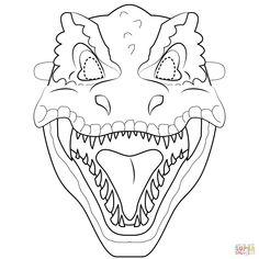 T-Rex Mask coloring page Dinosaur Template, Dinosaur Printables, Dinosaur Crafts, Dinosaur Coloring Pages, Coloring Pages For Kids, Free Printable Coloring Pages, Templates Printable Free, Pokemon Masks, Dinosaur Mask