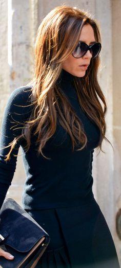 Victoria Beckham  skirt, sunglasses, and purse – Victoria Beckham Collection