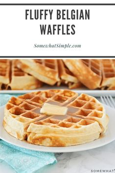 waffle recipe Homemade Belgian waffles are perfectly golden and crispy on the outside but the insides are soft, fluffy and amazingly delicious! Made from scratch using a few simple ingredients, this waffle recipe is the best youll find. Waffle Recipe No Milk, Easy Belgian Waffle Recipe, Best Waffle Recipe, Waffle Maker Recipes, Brunch Recipes, Breakfast Recipes, Dessert Recipes, Pancake Recipes, Recipes