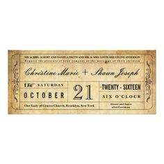 ShoppingVintage Style Wedding Ticket Invitationlowest price for you. In addition you can compare price with another store and read helpful reviews. Buy