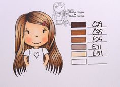 The Paper Nest Dolls: Copic Hair Color 14...