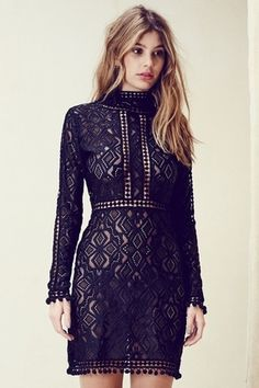 For Love & Lemons Florence Cocktail Dress | Available Colors: Black | Available Sizes: XS, S, M, L | $306.00 | #Chic Only #Glamour Always