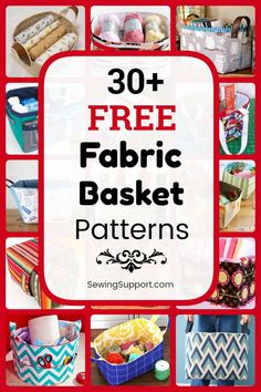 A collection of over 30 free fabric storage basket and bucket sewing patterns, tutorials, and diy projects. Small Sewing Projects, Sewing Projects For Beginners, Sewing Hacks, Sewing Tutorials, Sewing Crafts, Diy Projects, Bag Tutorials, Sewing Lessons, Sewing Tips