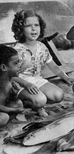 Shirley Temple on vacation in Hawaii, 1938.