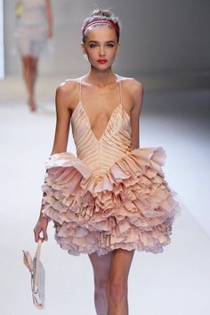 Ballet inspired Dress - show me a real ballerina with skeletal legs like that. This poor girl needs some nourishment, for reals.