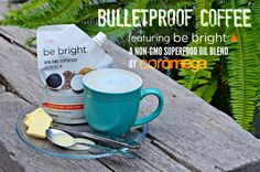 Be Bright™ Superfood Oil Blend pairs with Bulletproof® coffee