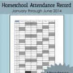 Free Printable Homeschool Attendance Record 2014