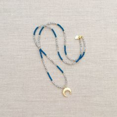 Etsy の The Kylie Layering Necklace Blue by LovesAffect