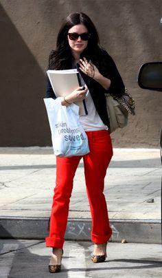 rachel bilson take on red jeans