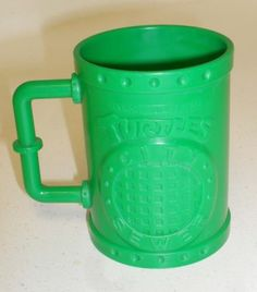 TMNT SEWER CITY Souvenir!! 1991 ORIGINAL Vintage Teenage Mutant Ninja Turtles Green City Sewer Plastic Kids Drinking Cup   Funky Thrift on eBay $16
