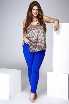 Denise Bidot ((Do I have the guts to wear bright blue pants?? Ahhhh.. Maybe? Hopefully.))