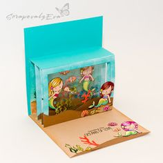 Pop up tunnel card with a shaker window inside Fancy Fold Cards, Folded Cards, Diy Mini Album, Pop Up Card Templates, Exploding Box Card, Interactive Cards, Shaker Cards, Pop Up Cards, Card Sketches