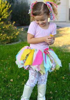 Rainbow Fabric Scrap Tutu