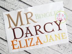 Mr Darcy Fishtail Embroidery Font | The Itch 2 Stitch
