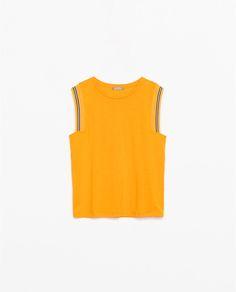 sports chic #mywearforecast #top #orange