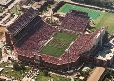 The University of Oklahoma Gaylord Memorial Stadium is home to the Oklahoma Sooners football team located in Norman OK   My FAVORITE team and stadium.  Boomer Sooner