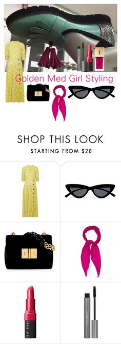 """""""Unique design"""" by tina-pencinger on Polyvore featuring Alessandra Rich, Le Specs, Gucci, Bobbi Brown Cosmetics and Yves Saint Laurent"""