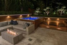 pool and whirlpool spa 8 -garten Outdoor pool and whirlpool spa 8 - Awesome glass space Hot Tub Backyard, Hot Tub Garden, Whirlpool Spa, Building A Patio, Spa Design, Design Ideas, Bath Design, Layout Design, Garden Design