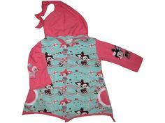Zipfelpullover  Hafenkitz rosa Reh  von me Kinderkleidung und ersatzbezuege auf DaWanda.com