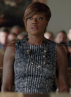 Annalise's houndstooth dress on How to Get Away with Murder.  Outfit Details: http://wornontv.net/37626/ #HTGAWM