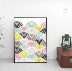 Affiche - Tendance Japonaise - Vagues 'Seigaiha' : Affiches, illustrations, posters par affiche-rgb4you