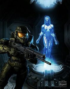 Another awesome piece of artwork featuring Master chief and a Halo 3/Halo 2 anniversary Cortana