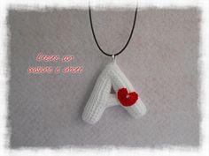 Collana con iniziale ad uncinetto by https://www.facebook.com/creareconpassioneeamore/ … … … … … … … … … … … #crochet #handmade #necklace