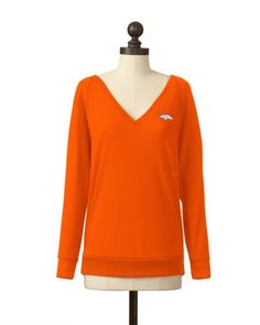 Denver Broncos | Pullover V-Neck Sweater | Stacy Keibler - 'Always a Fan' Collection | meesh & mia