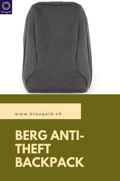 Color     gray     description  The Berg is a  backpack made of cut-resistant Oxford fabric for a safe way to the office or to the university Hidden zippers and invisible outside pockets protect your valuables from thieves and crooks With 20L capacity, padded notebook compartment . #antitheft #antitheftbag #shoulderbag #security #backpacks #mensfashion #tasantimaling Anti Theft Backpack, Oxford Fabric, Berg, Zippers, Gray Color, University, Notebook, Backpacks, Pockets