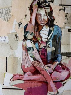 Sitting Woman, Collage