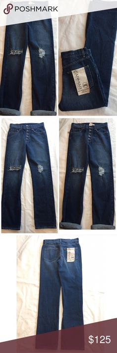 """LF STORES Carmar baggy ripped NEW boyfriend jeans AMAZING baggy boyfriend jeans by CARMAR sold at LF STORES. Retail price $232 New with tags☀️ These are a low fit, non stretch denim, baggy and oversized boyfriend comfort fit, straight leg. Size 26: waist flat 15.25"""", font rise 11"""", i seam not cuffed 34"""", leg opening 16"""". Carmar Jeans Boyfriend"""