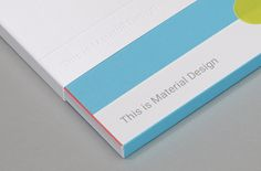 Google's UXA team challenged Manual to interpret and encapsulate the Material Design philosophy in a limited edition printed takeaway that was both inspiring and functional.