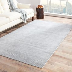 Hand-loomed Solid-pattern Blue Area Rug (8' x 10') - Free Shipping Today - Overstock.com - 15520761 - Mobile