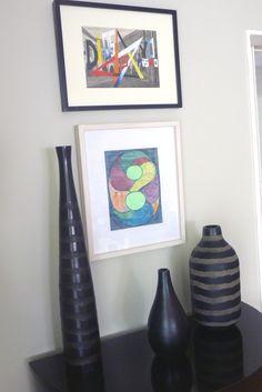 #ARTONTHEWALLS Obras adquiridas en Roldán. La de arriba es de Londaibere y el collage es de Leda Catunga. Colección privada en Buenos Aires, Argentina.