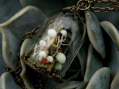Glow In Dark Mushroom Small Glass Dome by ThePurpleArtichoke7