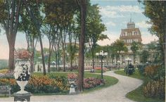 Congress Park Spring In New York, Spring New, Saratoga Springs New York, Old Postcards, Grand Hotel, Victorian Era, Hotels, Park, Inspiration