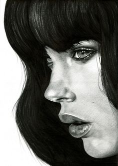 Gorgeous black and white painting... this is incredible!