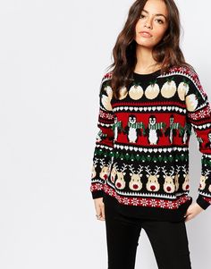 New Look Fairisle Christmas Jumper