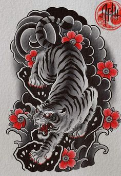 Dragon Koi Tattoo Design, Japan Tattoo Design, Tribal Dragon Tattoos, Tiger Tattoo Design, Dragon Sleeve Tattoos, Japanese Dragon Tattoos, Japanese Sleeve Tattoos, Dragon Tiger Tattoo, Traditional Japanese Tattoo Sleeve