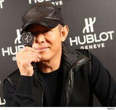 Jet Li with a Hublot Black Ceramic Aero-Bang Jet Li, King Power, Popular Watches, Jackie Chan, Brand Ambassador, Bigbang, Celebrities, Celebs, Luxury Watches