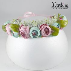 This adorable pink and blue headband for girls' age is an absolute darling! Make your girl wear this, you will be flattered by compliments! Pink And Blue Flowers, Pink Blue, Flower Crowns, Your Girl, Eat Cake, Babys, Compliments, Headbands, Make It Yourself