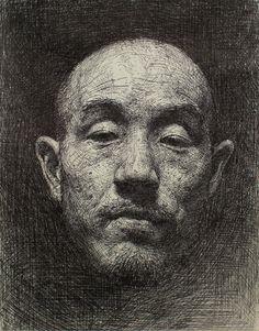 Pen artist Sam Kim | Self-portrait | Pen drawing (2012)