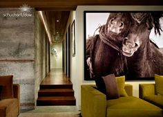 15 Examples of Decorating with Large Scale Photos: Wild Horse Photograph