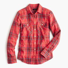 I have this plaid shirt and have received many compliments.  It has a nice color to it.